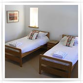 Twin beds in bedroom 4